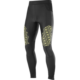 Salomon Fast Wing Long Tights Men Black/Sulphur Spring